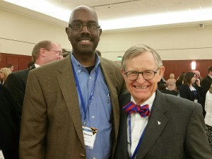 President E. Gordon Gee (right) and Bryan Bennett